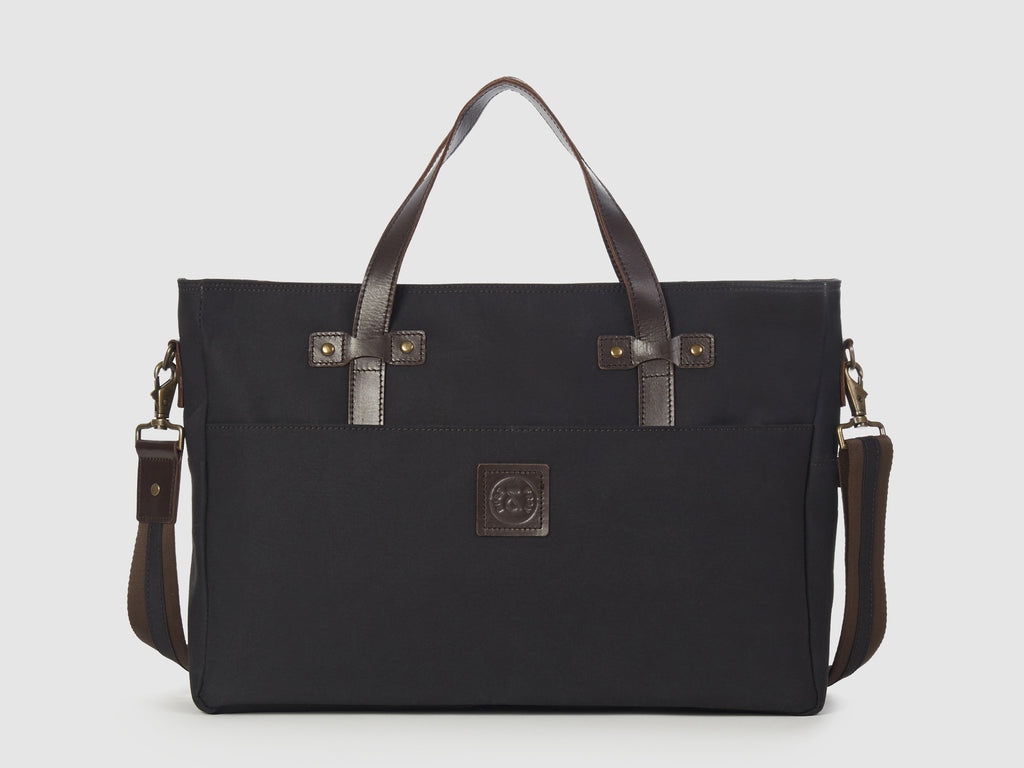 Prodigy KG - Black Gabardine Large Shoulder Bag - Bag - Rust & Fray