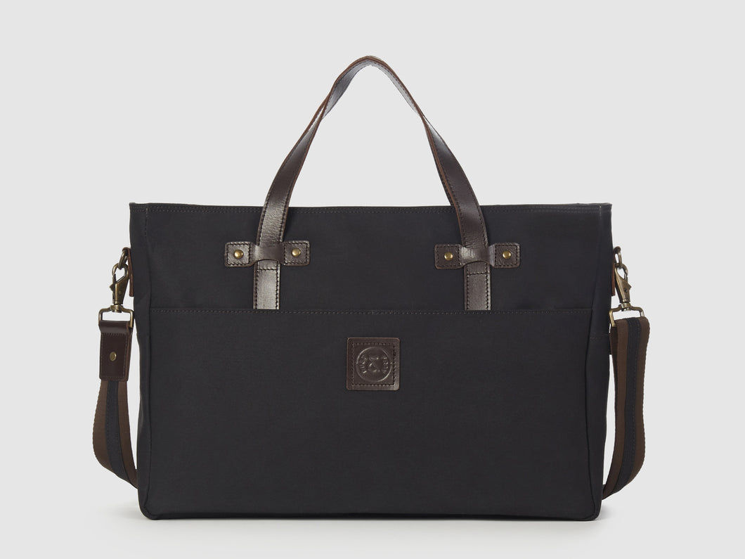 Prodigy KG - Black Gabardine Large Crossbody - Bag - Rust & Fray