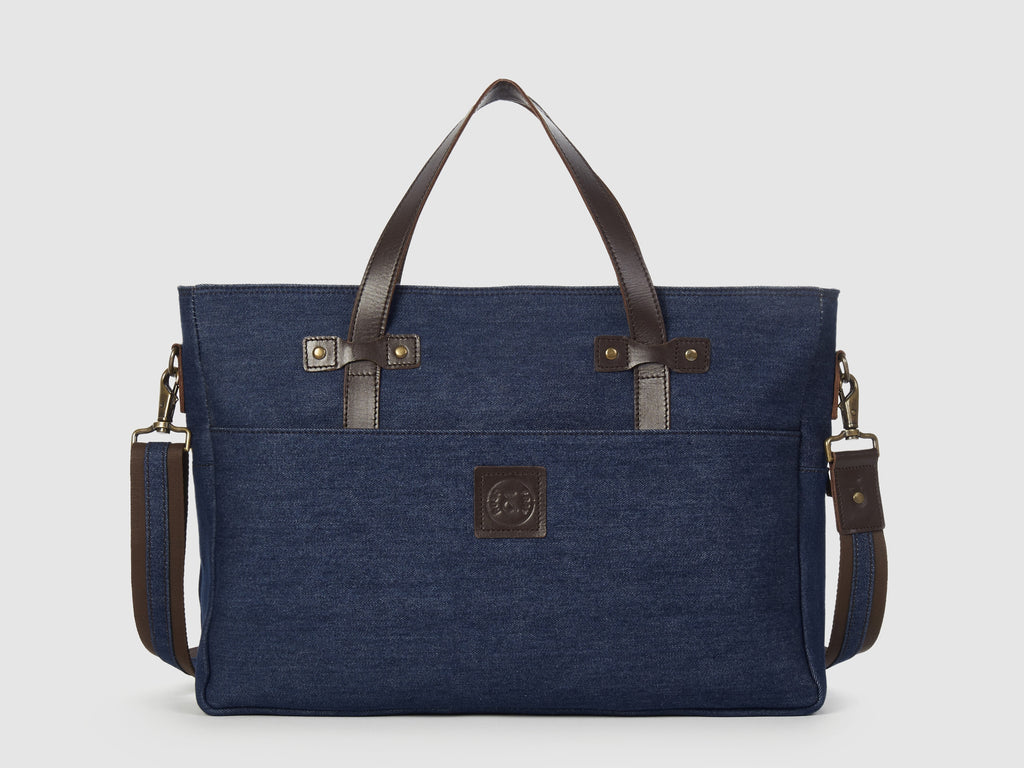 Prodigy BD - Blue Denim Large Crossbody - Bag - Rust & Fray