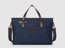 Load image into Gallery viewer, Prodigy BD - Blue Denim Large Crossbody - Bag - Rust & Fray