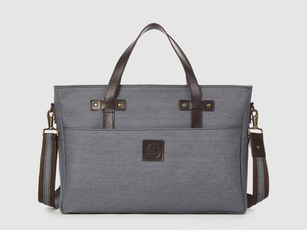 Prodigy GD - Gray Denim Large Shoulder Bag - Bag - Rust & Fray