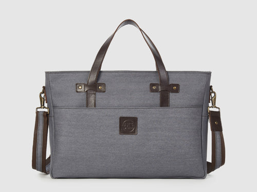 Prodigy GD - Gray Denim Large Crossbody - Bag - Rust & Fray