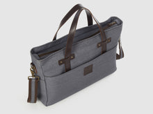 Load image into Gallery viewer, Prodigy GD - Gray Denim Large Crossbody - Bag - Rust & Fray