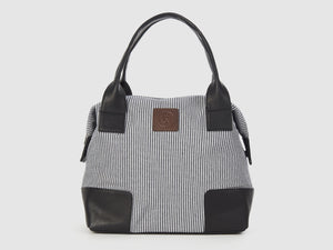 Caprice CC - Checkered Cotton Tote Bag - Bag - Rust & Fray