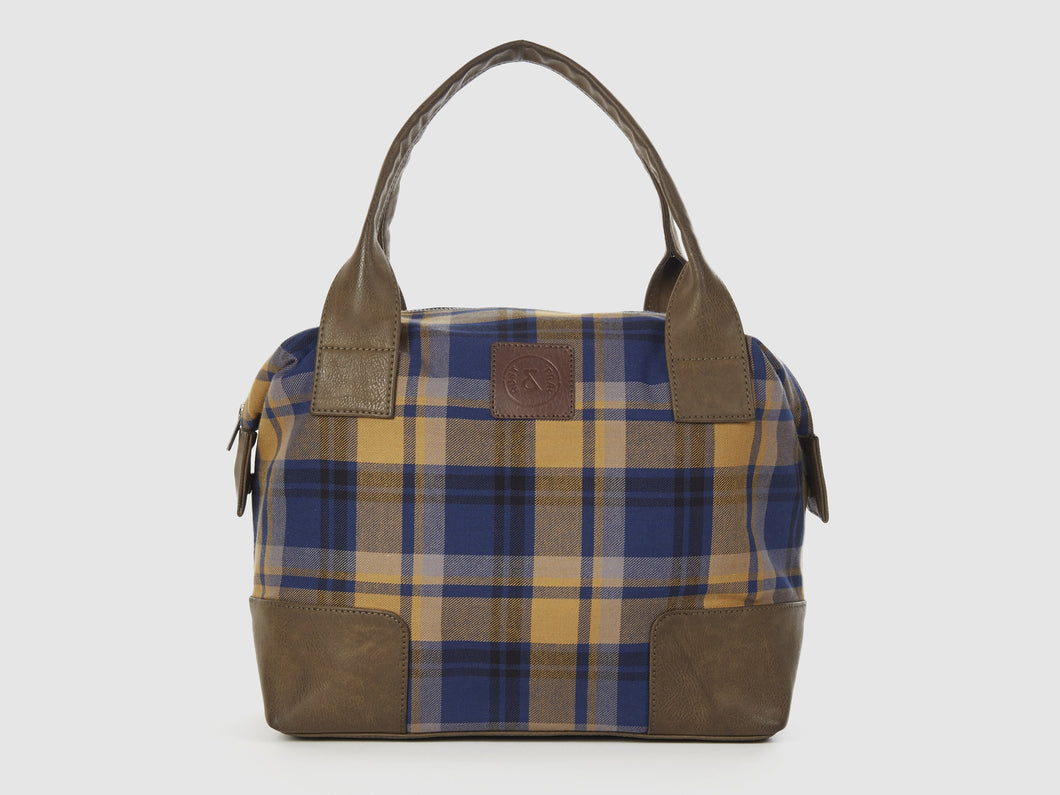 Caprice PC - Plaid Cotton Tote Bag - Bag - Rust & Fray