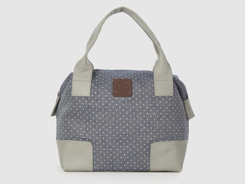 Caprice DC - Dot-Print Cotton Tote Bag - Bag - Rust & Fray