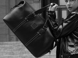 Ardent - Black Leather Duffel