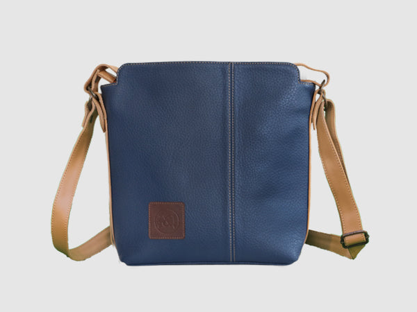 Latitude - Midnight Vegan Leather Messenger Bag - Bag - Rust & Fray