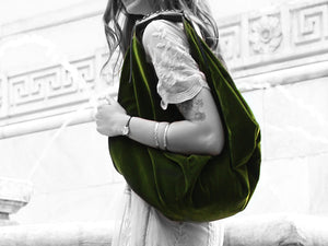 Boho - Forest Green Velvet - Bag - Rust & Fray