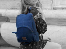 Load image into Gallery viewer, Rave - Navy Blue Denim Backpack - Bag - Rust & Fray