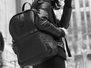 Encore - Black Leather Backpack