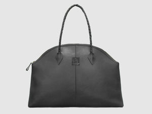 Frida - Black Leather Large Tote - Bag - Rust & Fray