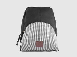 Rave BW - Black & White Cotton Backpack - Bag - Rust & Fray
