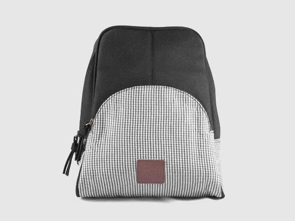 Rave BW - Black & White Cotton Backpack