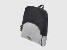 Load image into Gallery viewer, Rave BW - Black & White Cotton Backpack - Bag - Rust & Fray