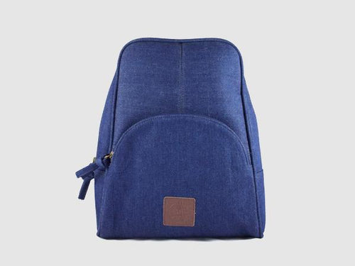 Rave - Navy Blue Denim Backpack - Bag - Rust & Fray
