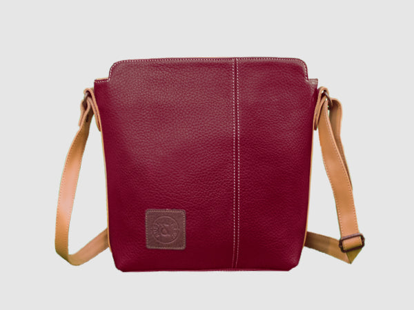 Latitude - Red Vegan Leather Messenger Bag - Bag - Rust & Fray