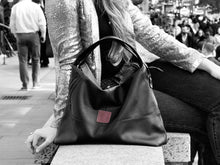Load image into Gallery viewer, Vogue - Black Vegan Leather Hobo
