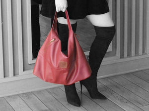 Vogue - Red Vegan Leather Hobo - Bag - Rust & Fray