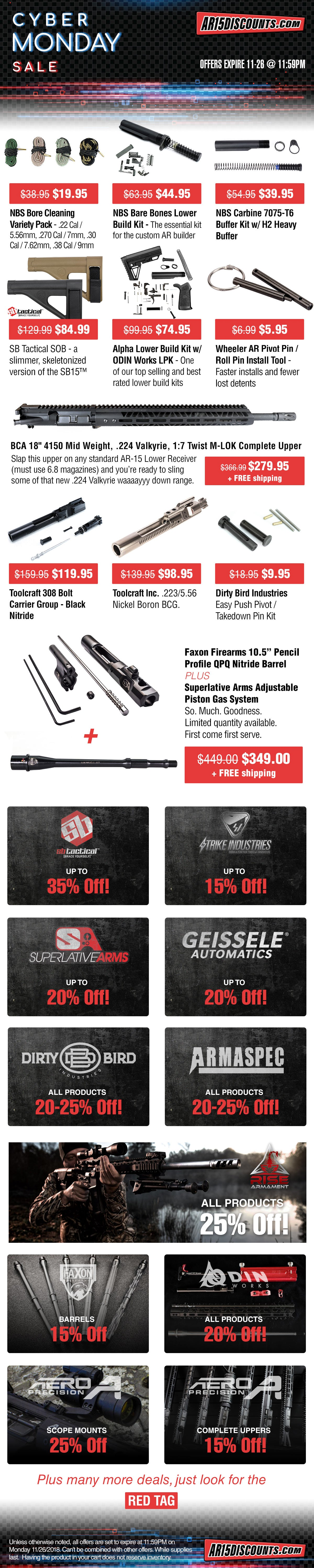 AR15Discounts Cyber Monday Ad