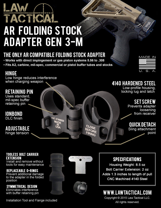 Law Tactical Folding Stock Information