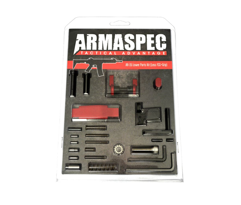 Armaspec Lower Parts Kit Stainless Lpk .223/5.56 Red Lower Parts Kit Ar15Discounts