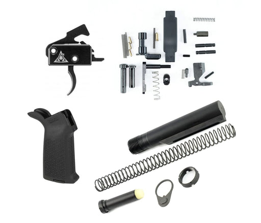 Black Fallout Lower Build Kit W/ Rise Armament Ra-140 Drop-In Trigger Lower Build Kit Ar15Discounts