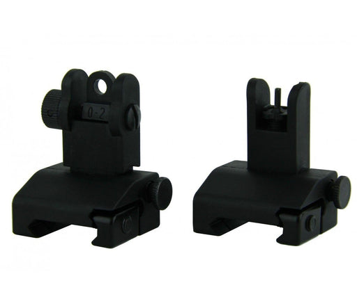 Budget Polymer Flip-Up Sights (American Made) - Black Sights Ar15Discounts
