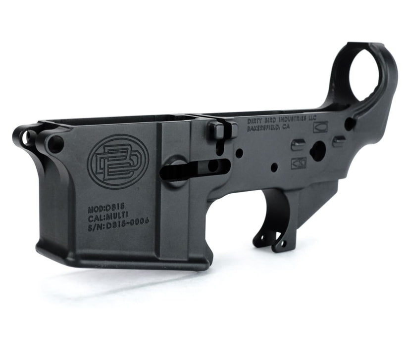 Dirty Bird Ar-15 Multi-Cal Forged Lower Receiver - Black Lower Receiver Ar15Discounts