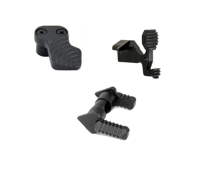 Enhanced Lower Controls Kit (Extended Bolt Catch Ambi Safety And Extended Mag Release) Lower Parts Kit Ar15Discounts