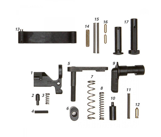 Geissele Mil-Spec Lower Parts Kit (Less Trigger No Grip) Lower Parts Kit Ar15Discounts