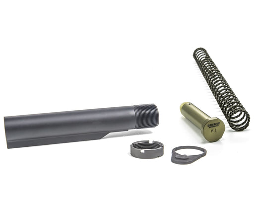 Geissele Premium Mil-Spec Buffer Tube Assembly With Super 42 H1 7075-T6 Ar-15/m4 - Black Buffer Kit Ar15Discounts