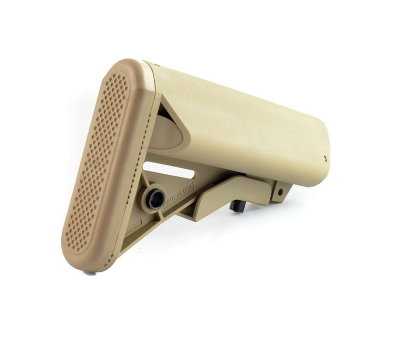 Nbs Sopmod Mil-Spec Adjustable Ar-15 Stock W/ Battery Storage - Tan Stock Ar15Discounts