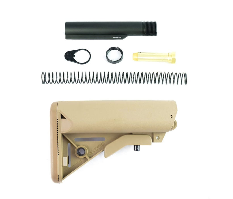 Nbs Sopmod Mil Spec Stock & Buffer Kit - Fde Stock & Buffer Kit Ar15Discounts