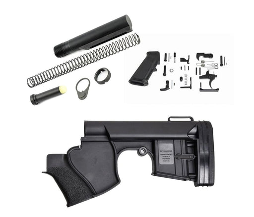 Survivor Systems Option Zero Featureless Lower Build Kit - Black Lower Build Kit Ar15Discounts