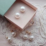 12mm Fresh water pearl earrings - NABILONDON