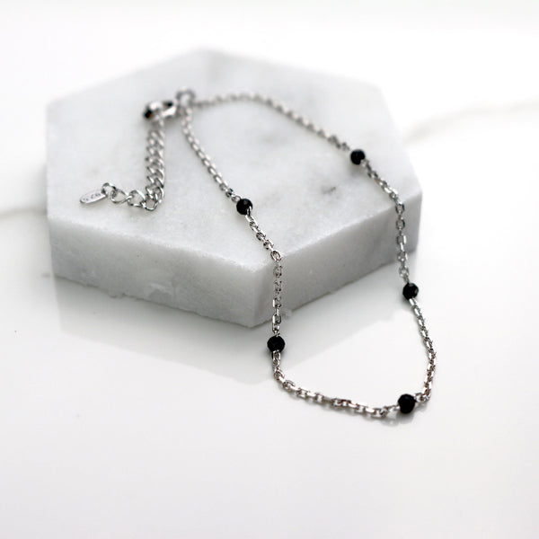 Black spinel bracelet - NABILONDON