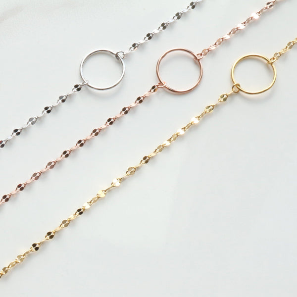 Circle chain bracelet - NABILONDON