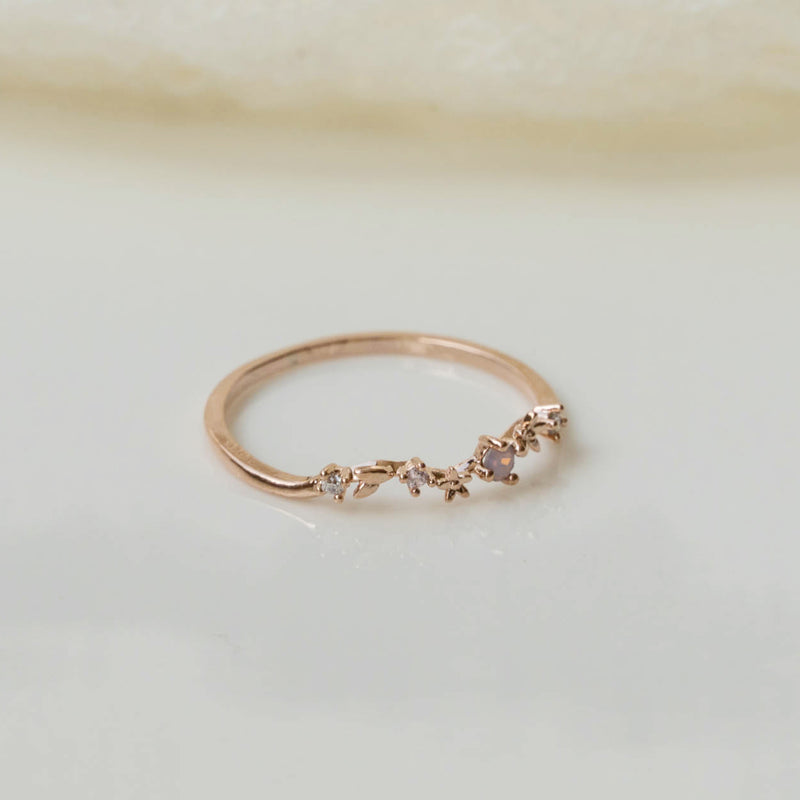Pink laurel ring