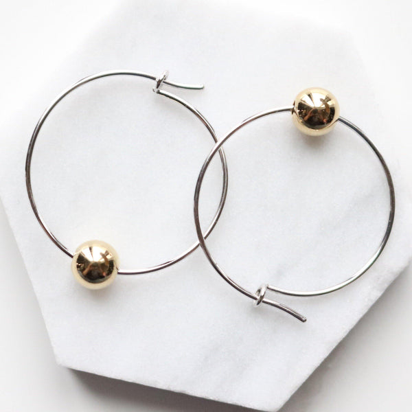 Ball ring earrings