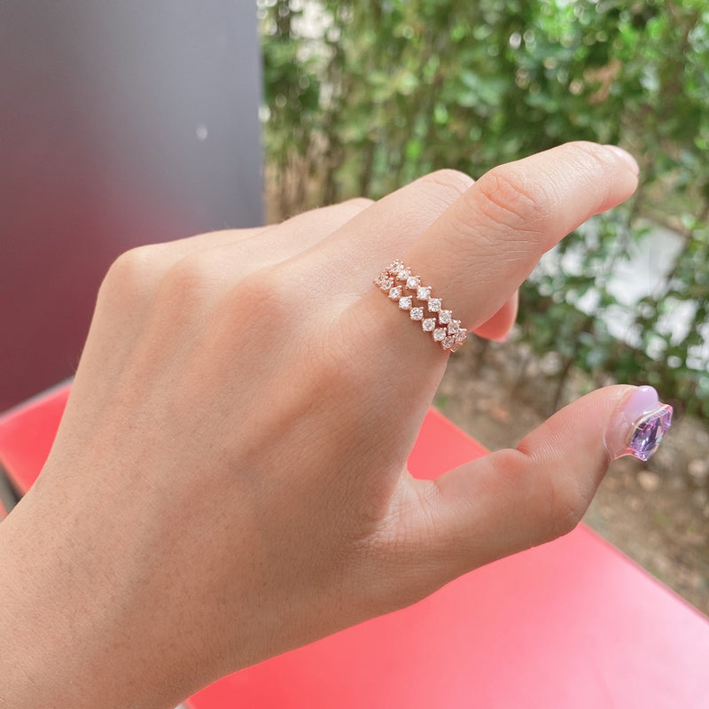 Cubic layered ring