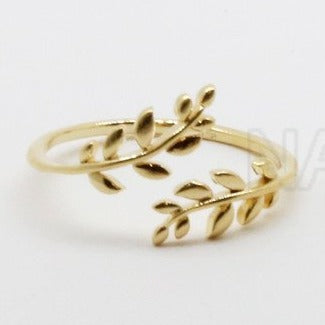 925 laurel Leaves ring