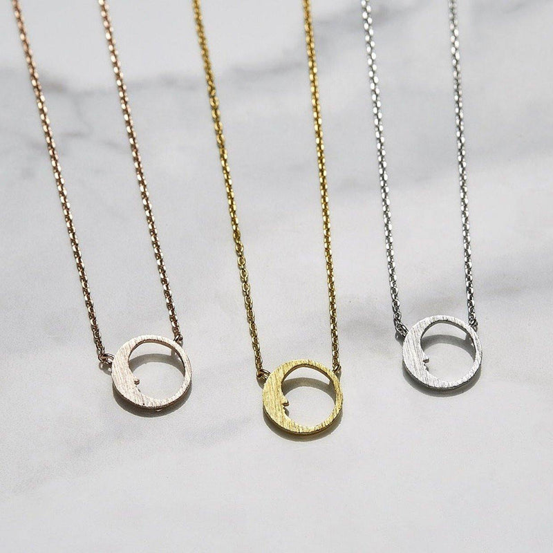 Crescent moon necklace - NABILONDON