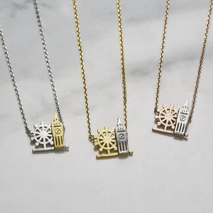 Two tone bigben necklace