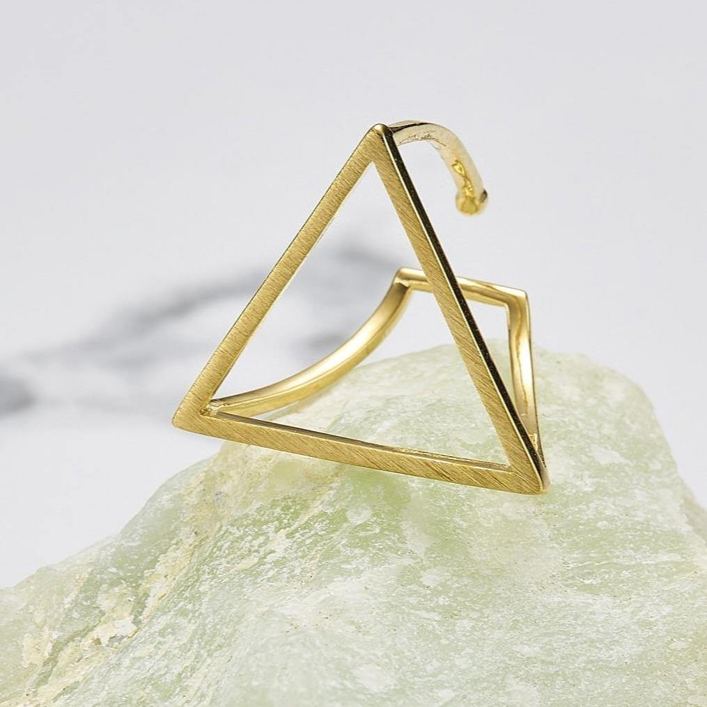 Big line triangle ring