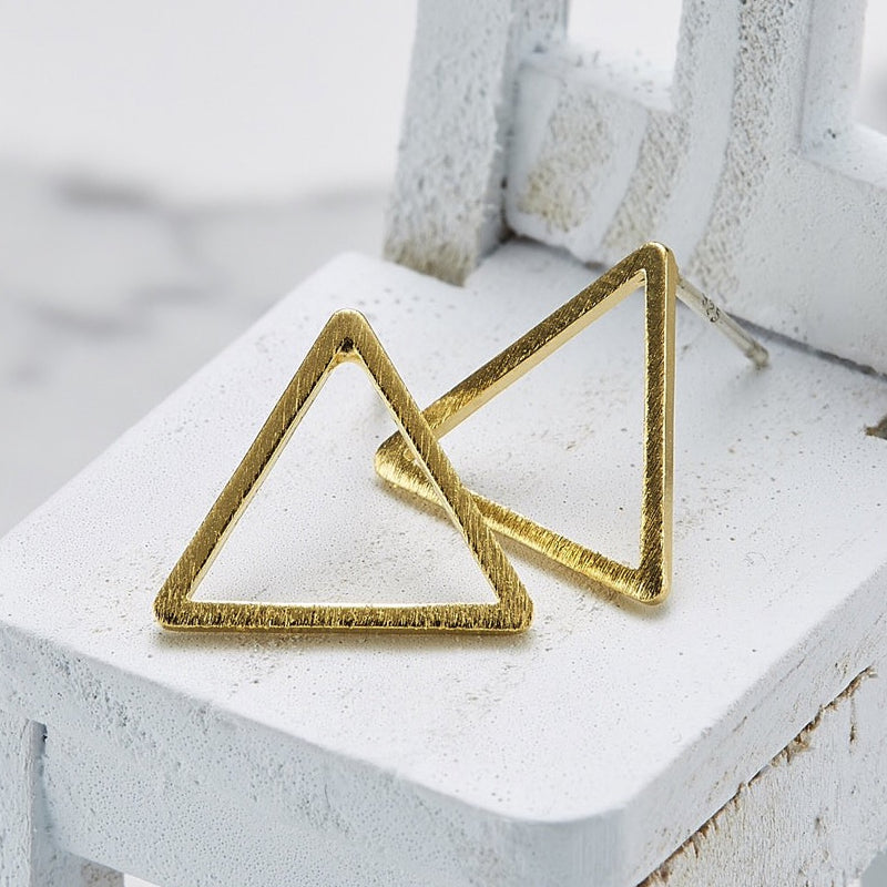 Large Line triangle Earrings