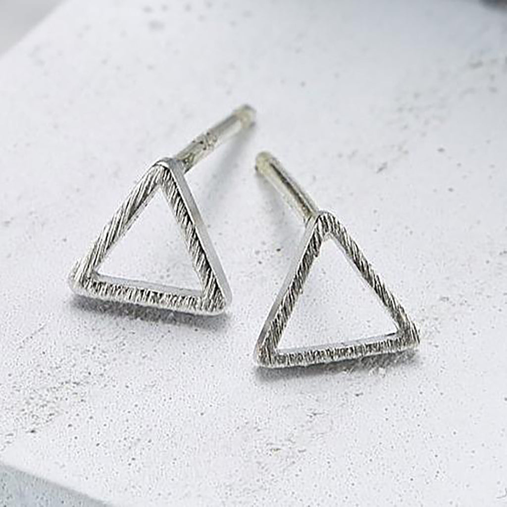 Line triangle (small) Earrings