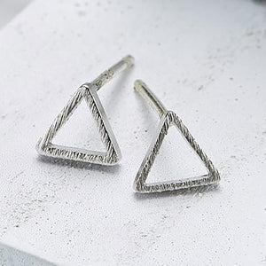 E069_Line triangle (small) Earrings