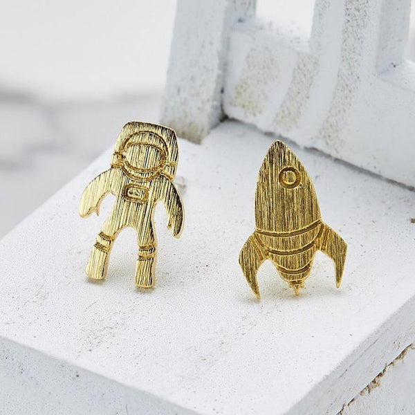 Astronaut & rocket earrings
