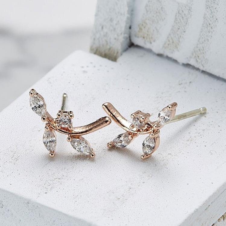 Cubic branch earrings